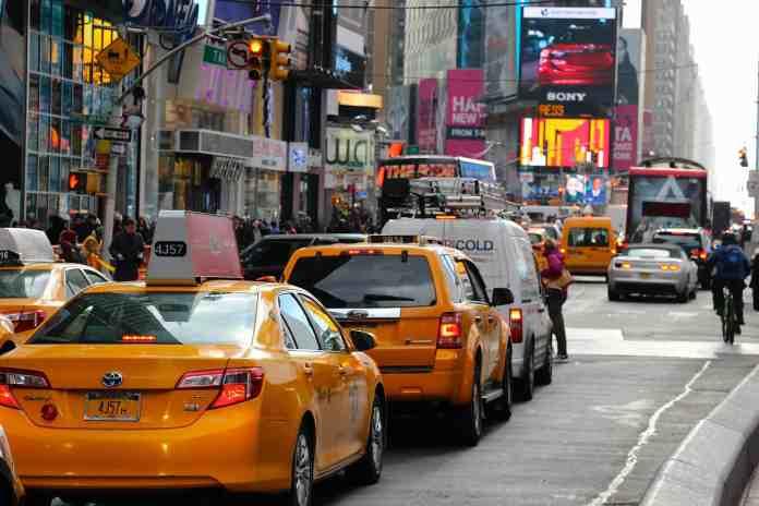 Transport City Yellow Taxi Urban Traffic Cab