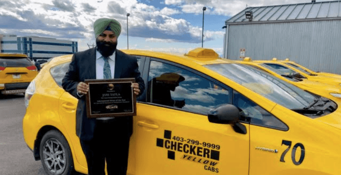 Calgary taxi driver Jass Tatla named as International Driver of the Year 2019
