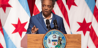 Chicago Mayor Lori Lightfoot outlined her plan for Chicago's $838 million budget gap at the Harold Washington Library.