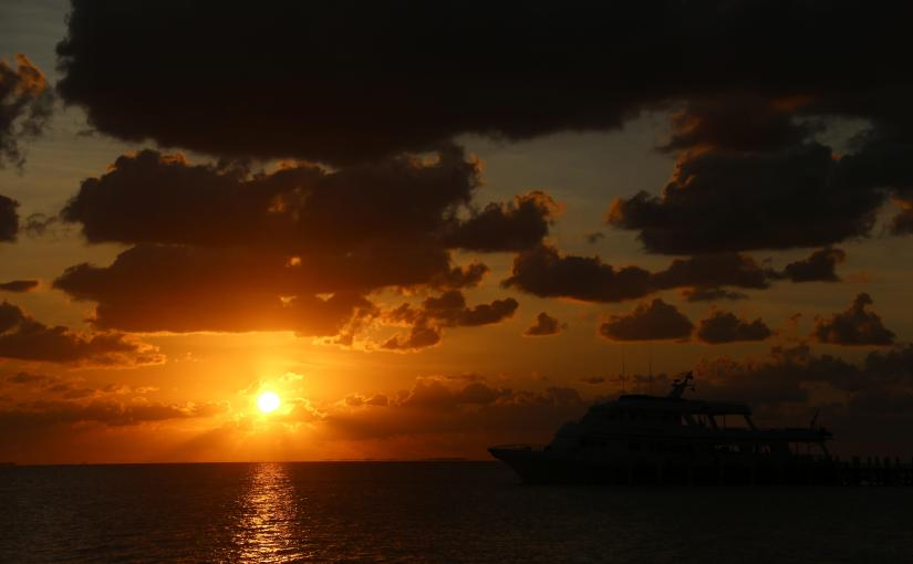 Belize City Sunrise Walk, it's good to be int the tropics in February.