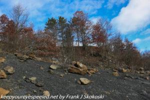 steep slope of strip mine