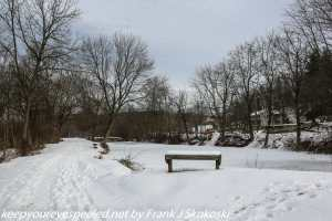 Snow covered tail Lehigh canal