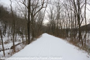 snow covered trail Lehigh canal