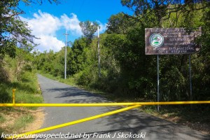 gate at entrance to Guanica dry forest