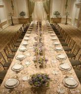 De tafel is gereed