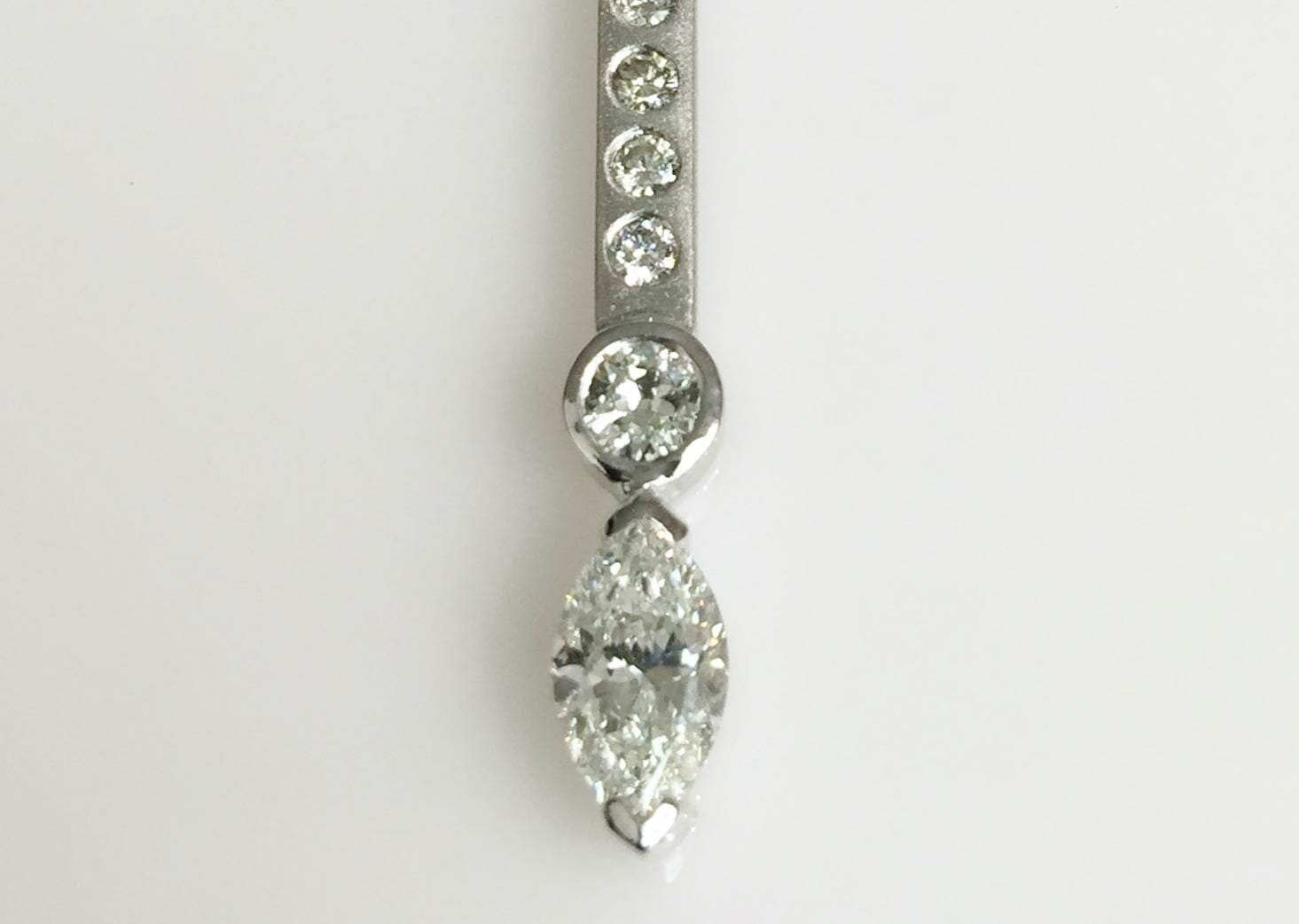 Marquise Cut Diamond Necklace Keezing Kreations Boston