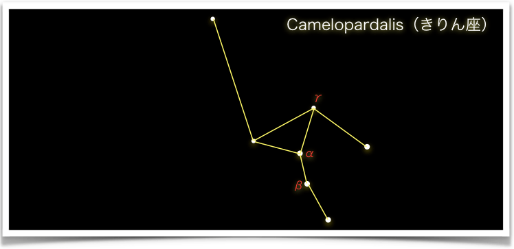 Camelopardalis(きりん座)