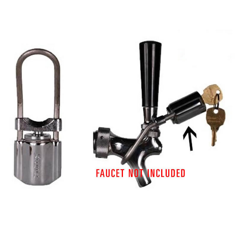 draft beer faucet lock for non perlick beer taps