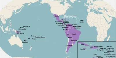 All Countries & Territories with Active Zika Virus Transmission