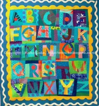 Alphabets in Blue