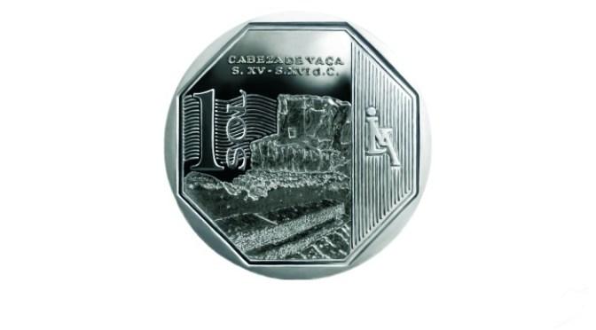 新1ソル硬貨第24弾はカベサ・デ・バカ遺跡
