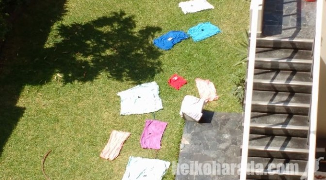 ペルー的洗濯物の干し方