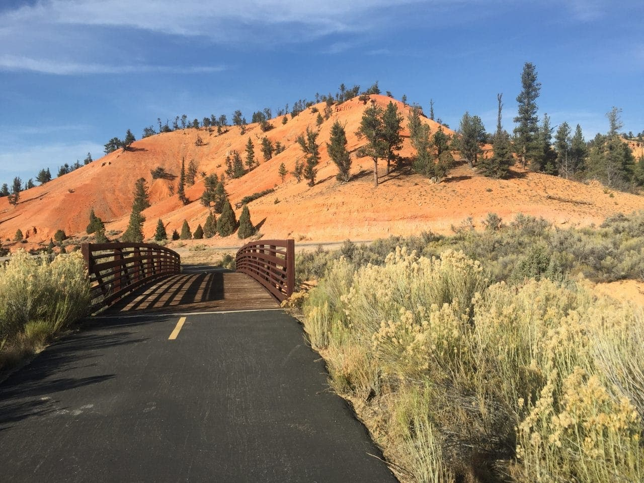 Red Canyon bike path
