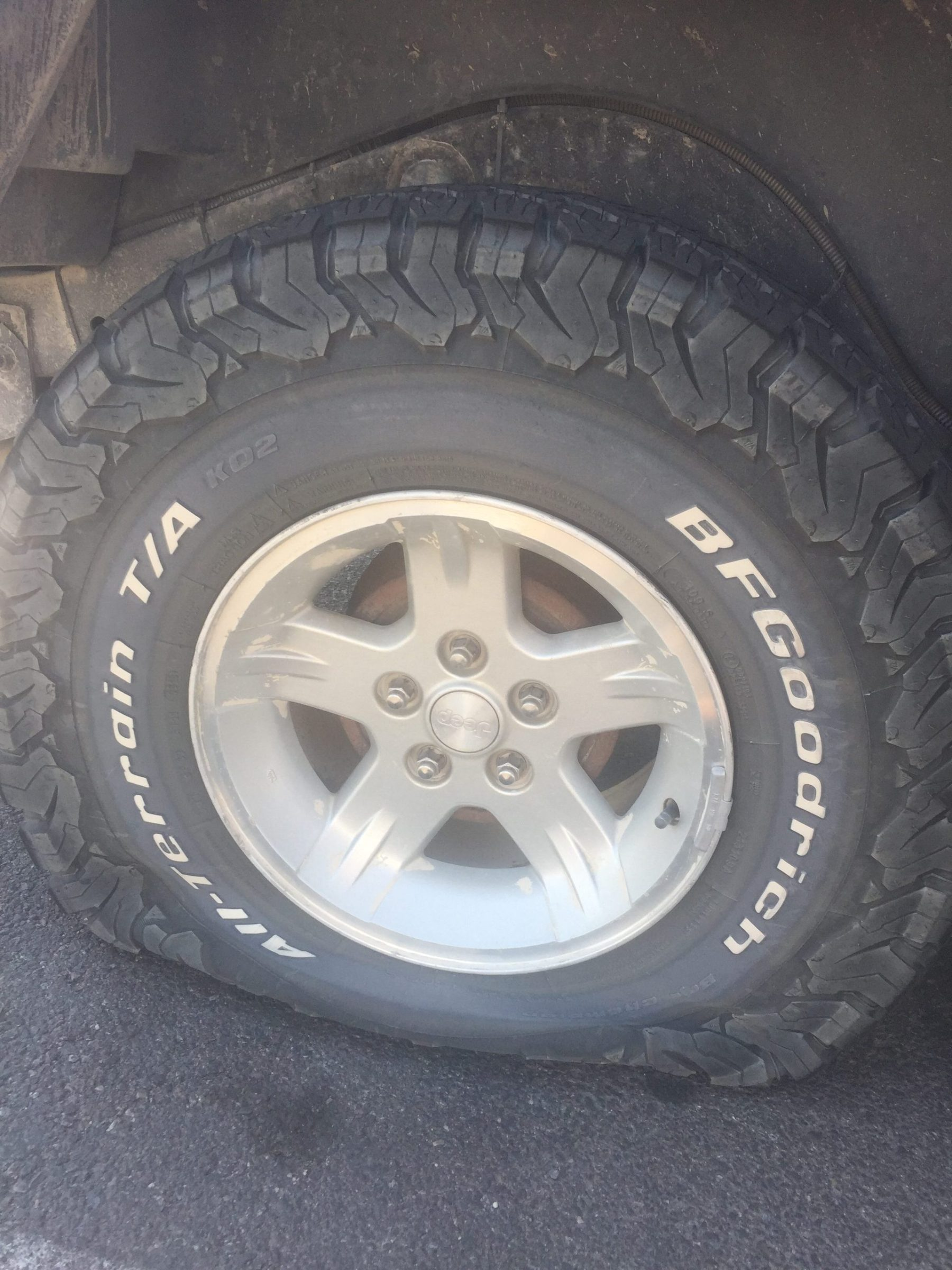 Flat tire! Slow leak overnight, luckily it happened in Wendover, Utah
