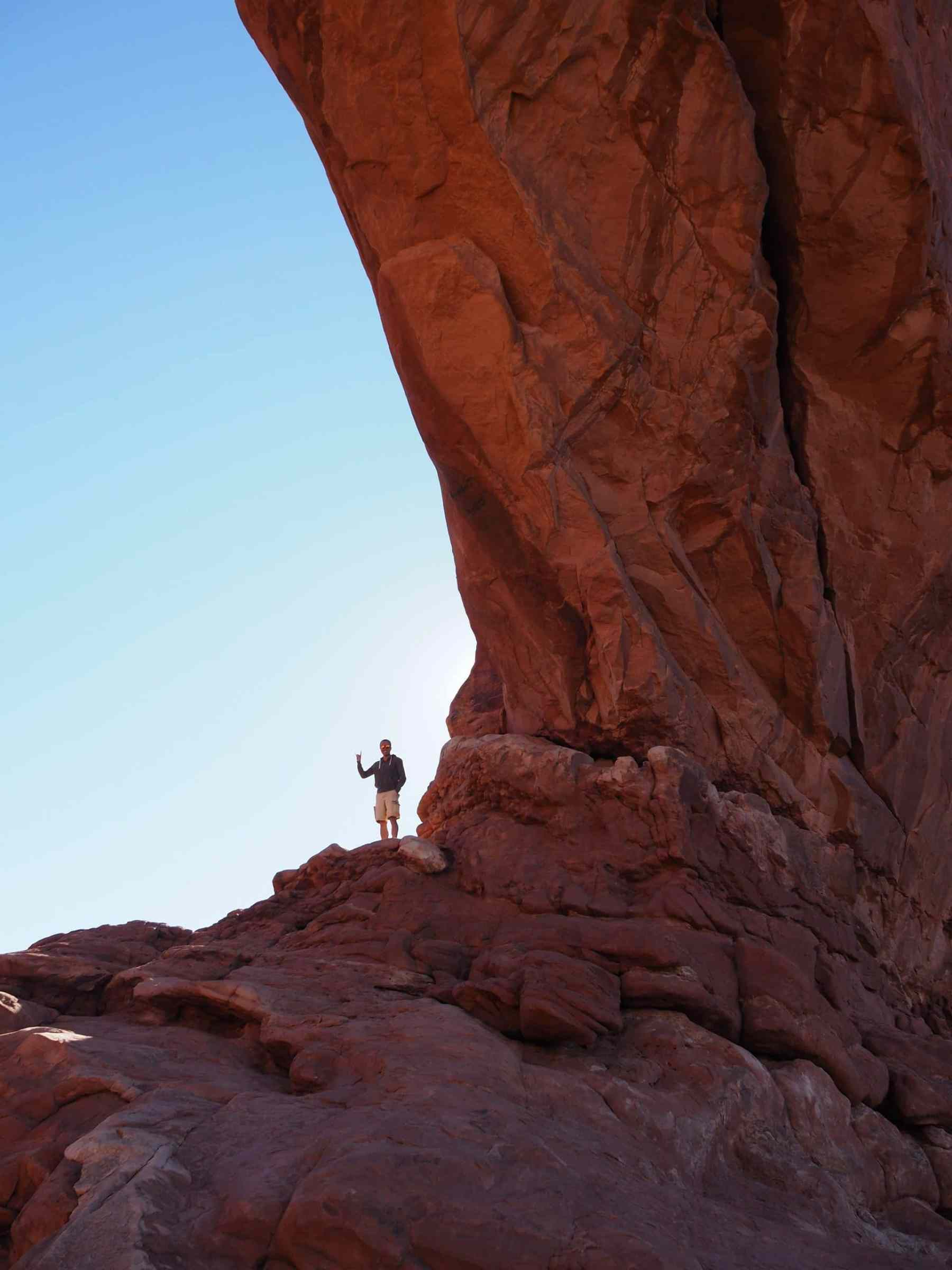 It's easy to feel small in Arches National Park
