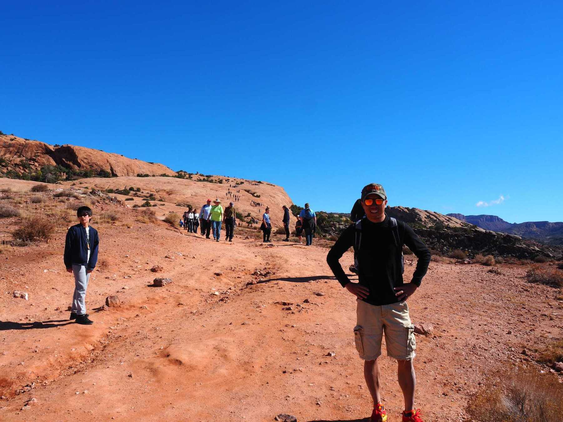 Starting the Delicate Arch Hike