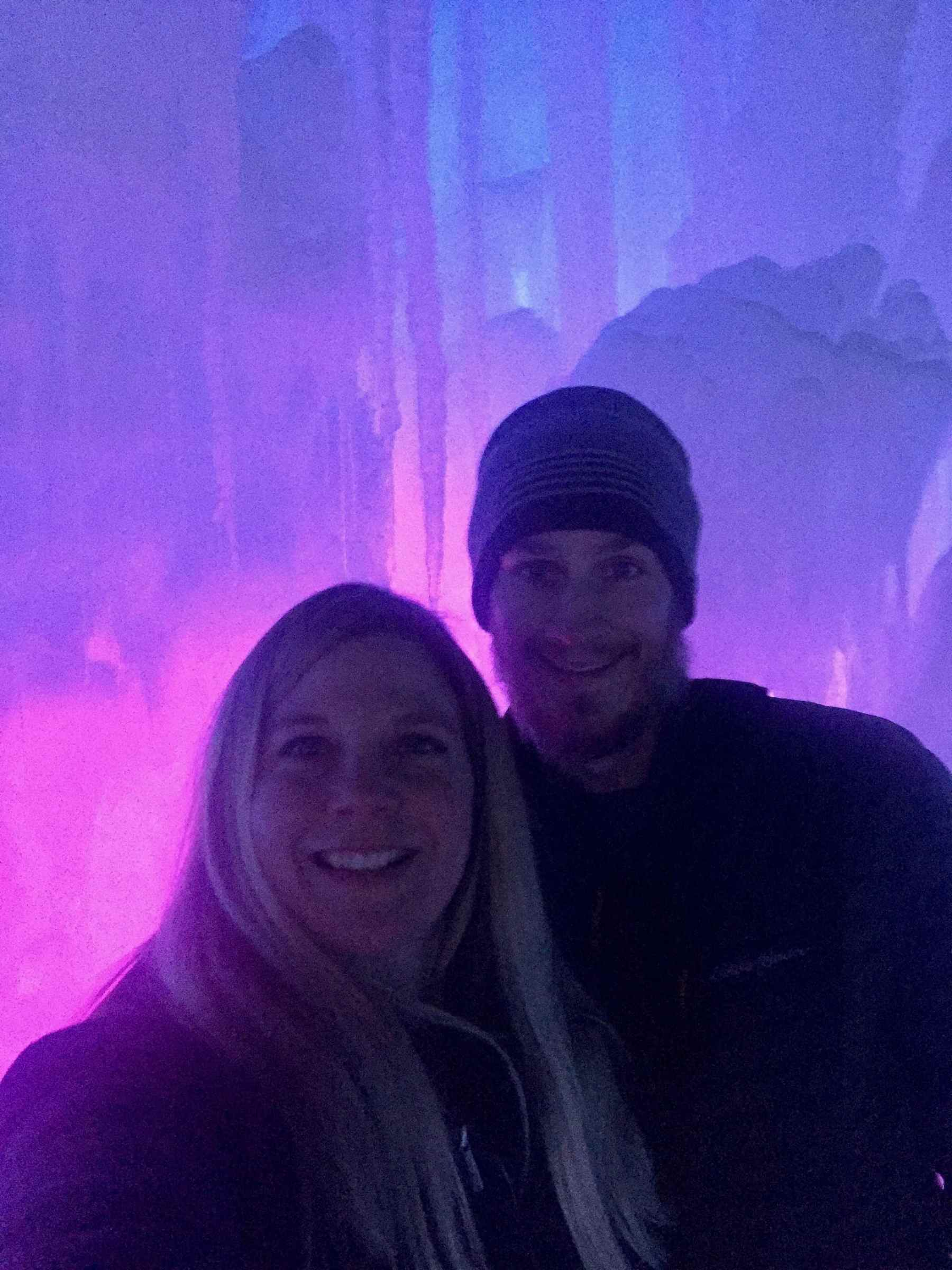 Selfie at the Ice Castles