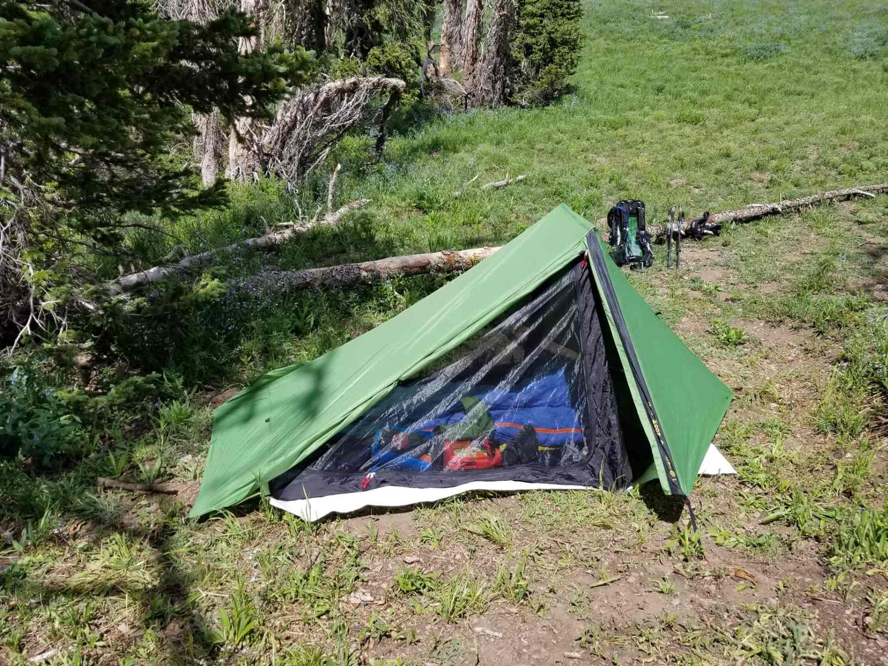 Camping setup for backpacking/overnight hiking