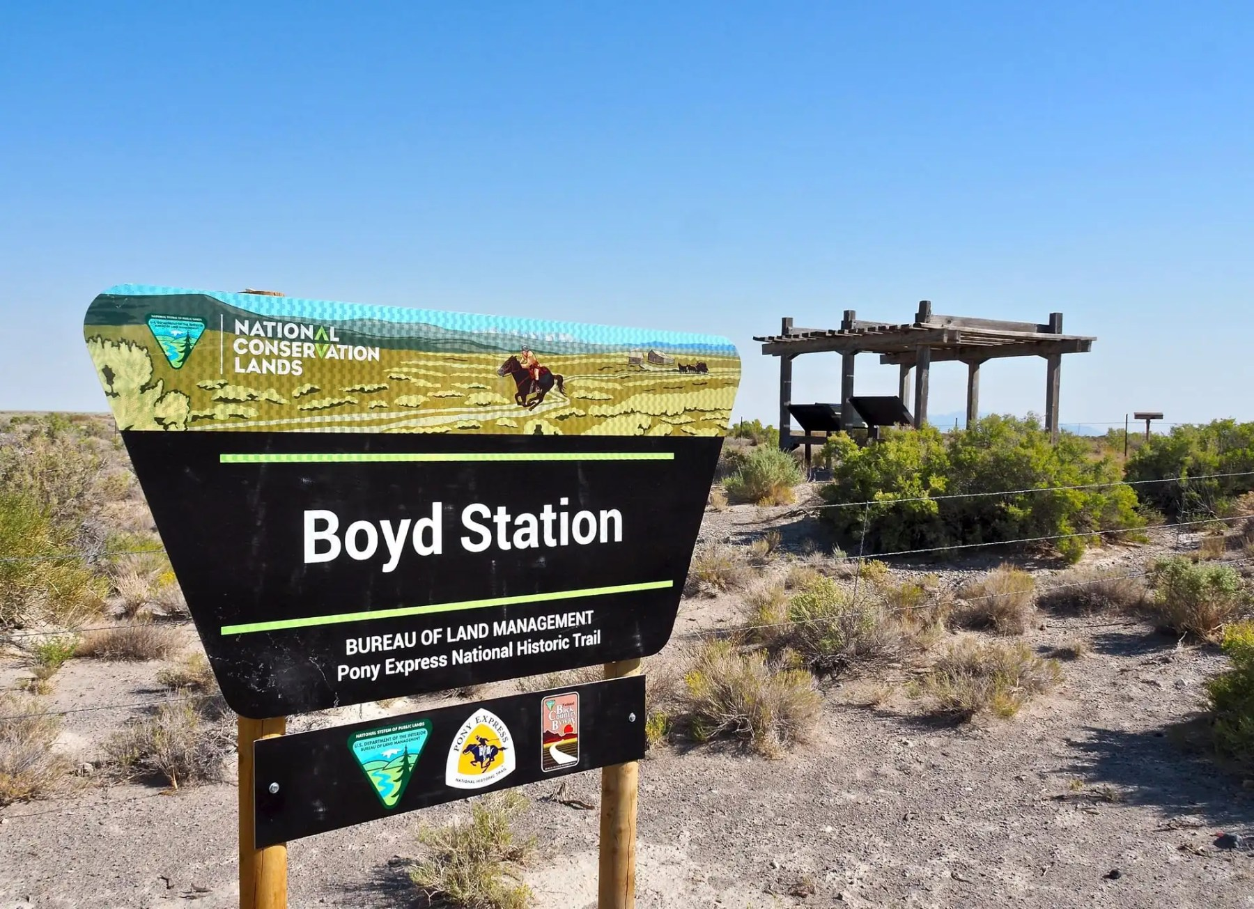 Boyd Station - example of one of the stations along the route