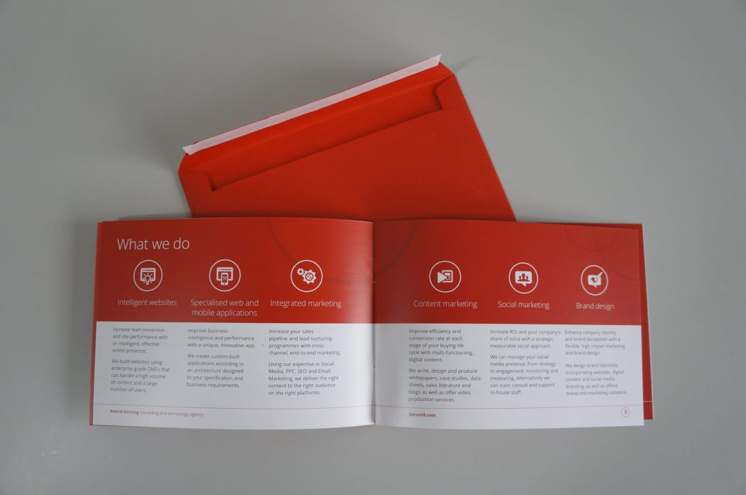 Company brochure design and production