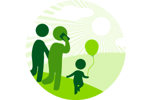 Branded Icon designs family walking