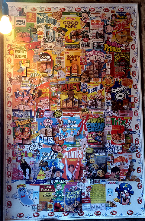 Cereal Killer Cafe Wall