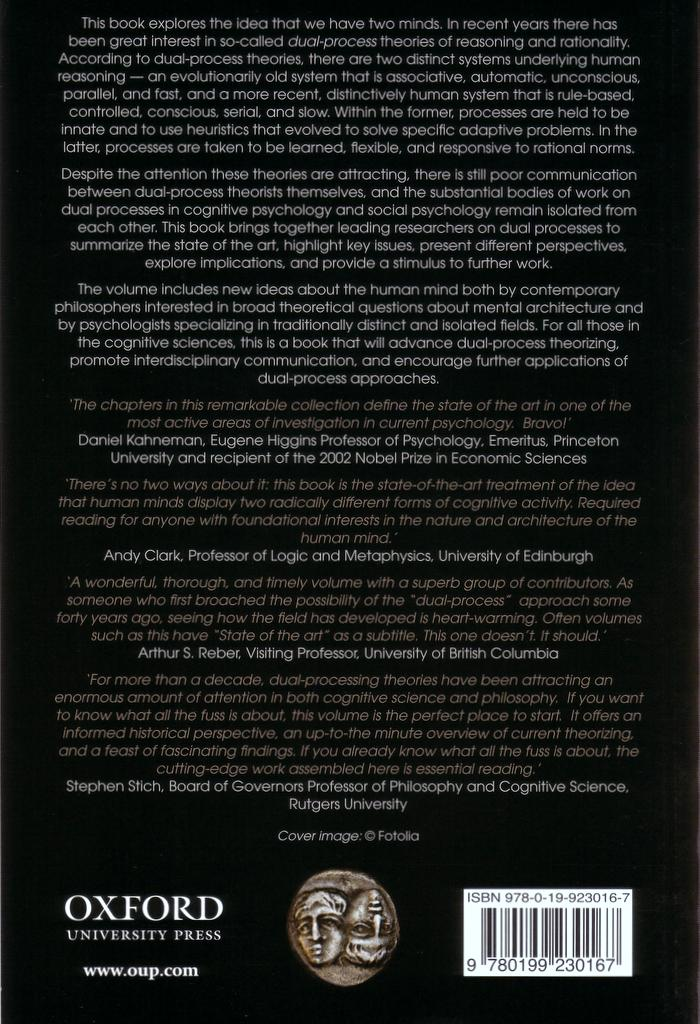 In Two Minds back cover