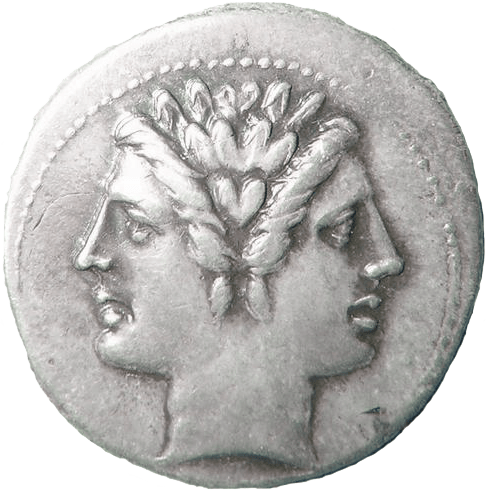 Coin with head of Janus