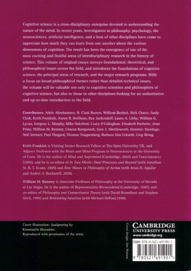 Handbook of Cognitive Science back cover