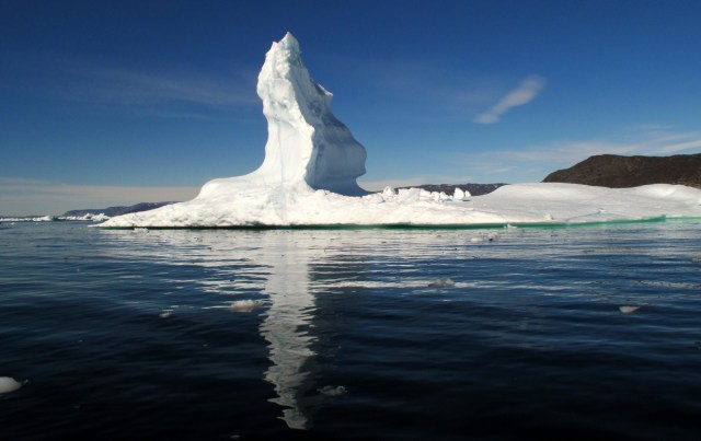 An oddly shaped iceberg
