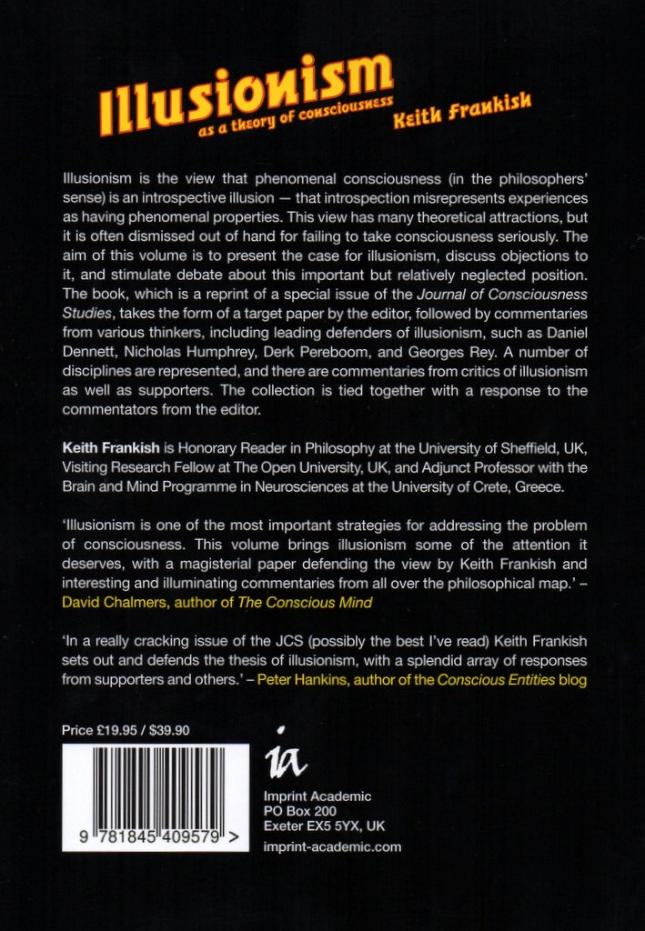 Back cover of Illusionism book