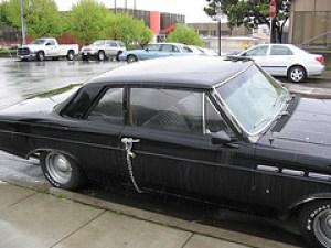 Padlocked car door