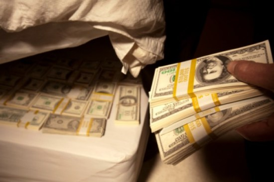 money-under-mattress