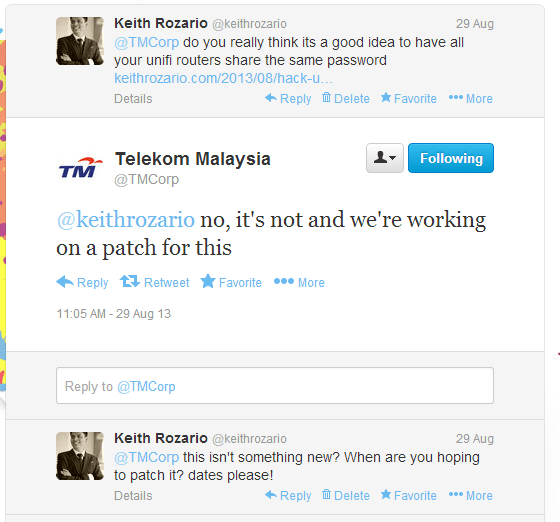 TM were informed in August