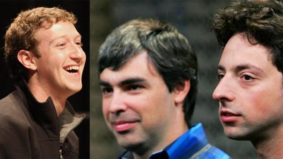 Mark Zuckerberg Larry Page Sergey Brin