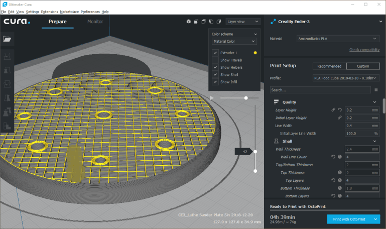 3D Printing: Software for Design and Slicing - Keith's Test