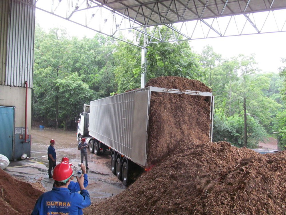 Unloading Wood Products