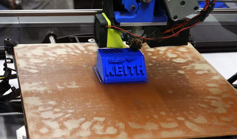 3D Printer Printing KEITH Logo