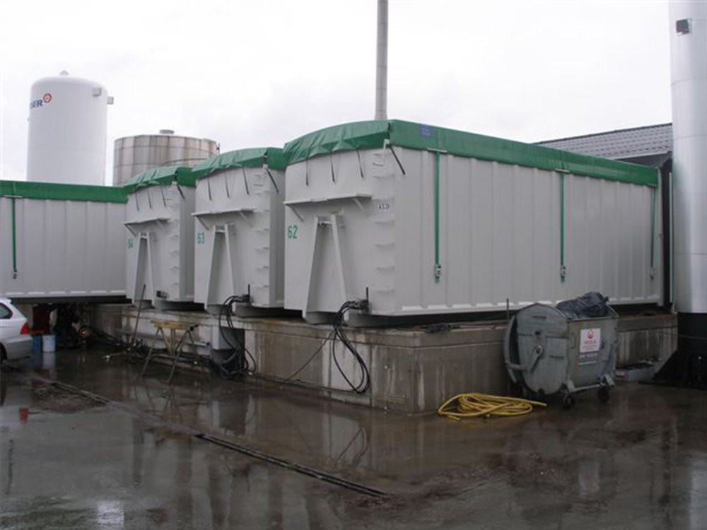 Container Bins Stationary Installation