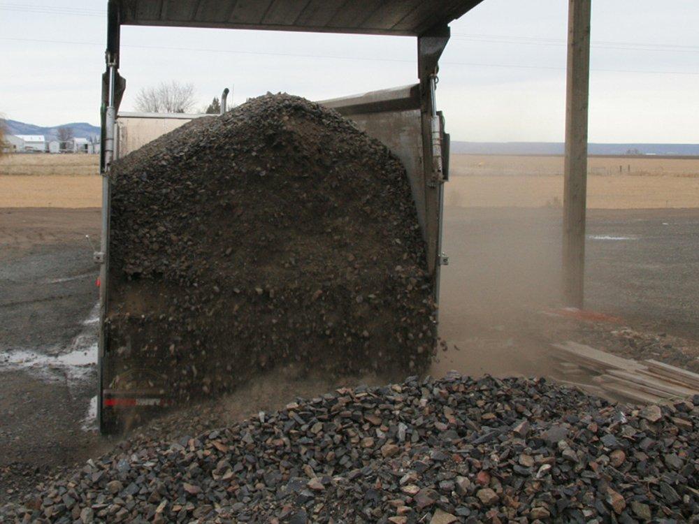 Unloading Crushed Rock