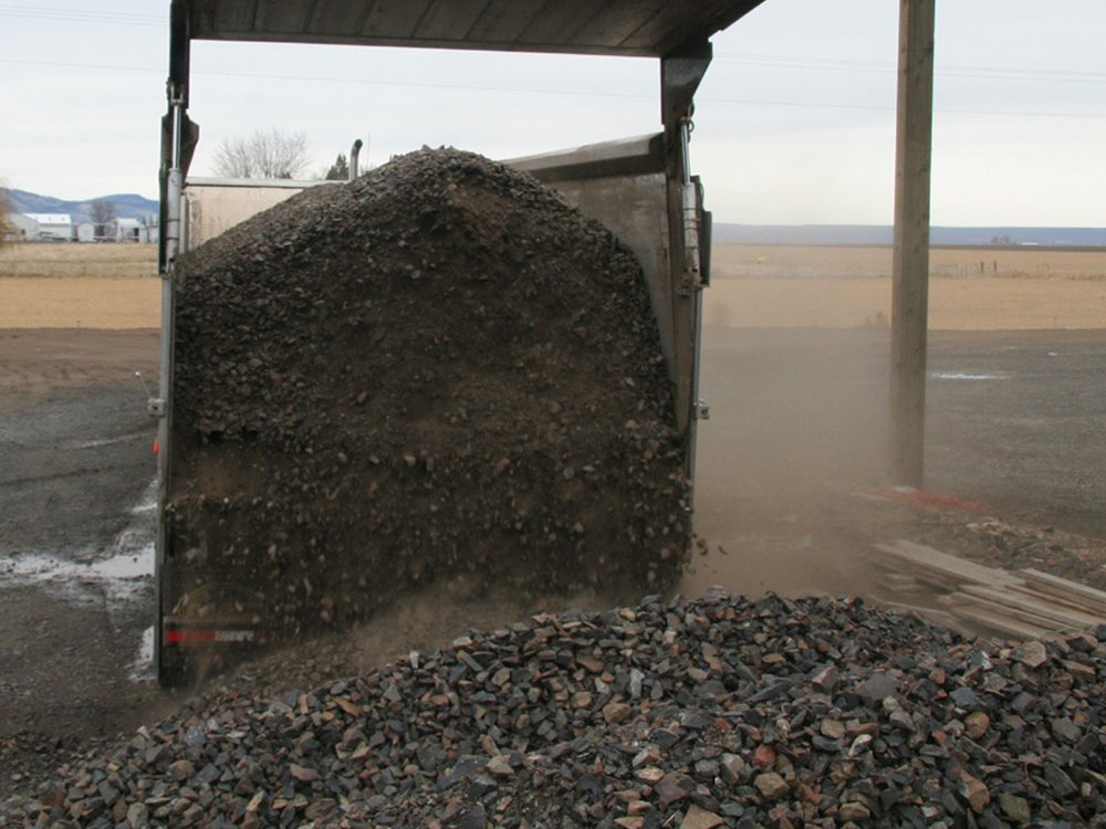 Unloading Crushed Rock
