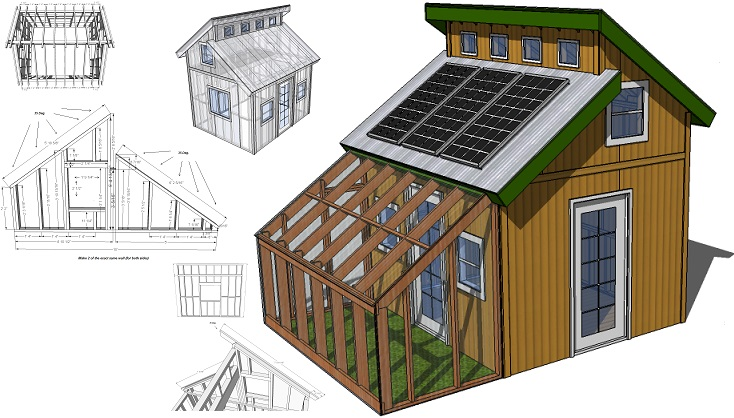 Tiny Eco House Plans   by Keith Yost Designs  3 6m x 1 6m