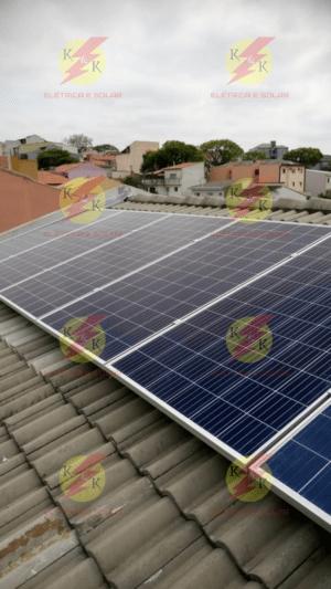 Instalação pronta dos módulos fotovoltaicos