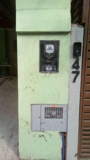 Instalação do novo padrão de entrada e da caixa do relógio da água
