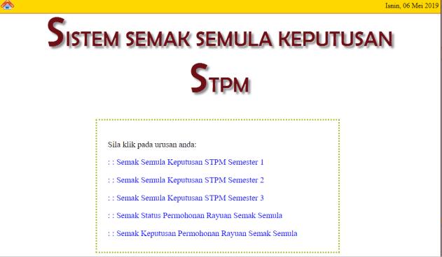Sistem semak semula stpm 1