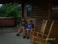 Porch with Aubrey and Austin
