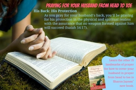 Praying for your husband book launch His Back