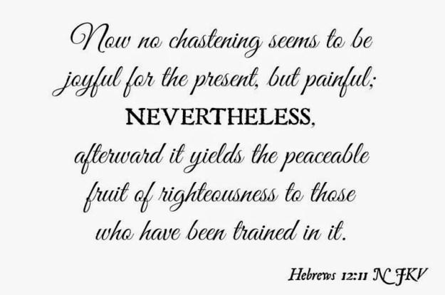 Hebrews twelve eleven