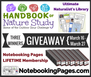 NotebookingPages.com & Outdoor Hour Challenge Giveaway