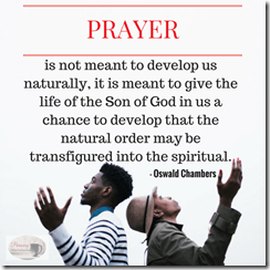 PRAYER quote from Oswald chambers